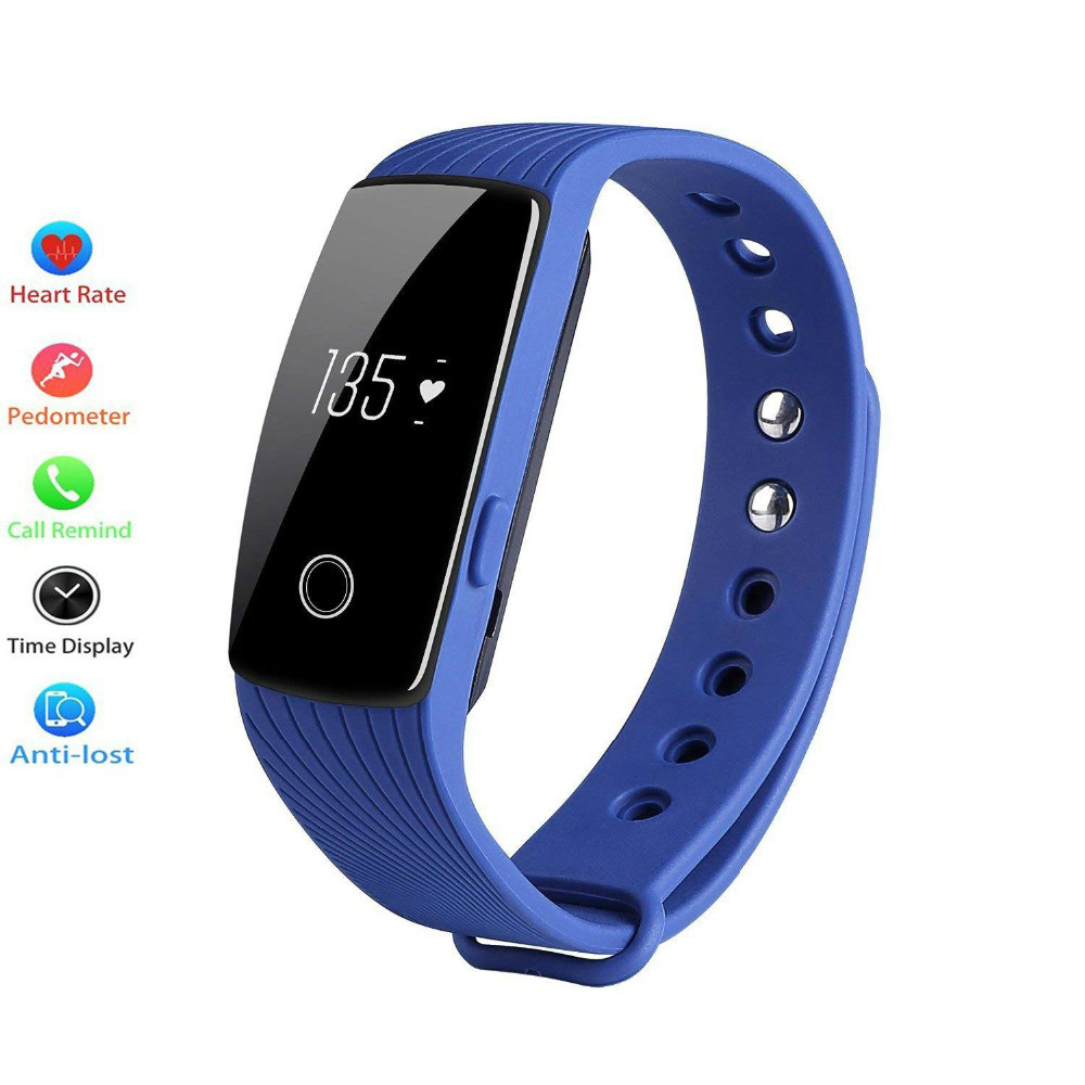 Wristband Bluetooth-Band OLED Tracker Fitness Bracelet Heart-Rate-Monitor Digital-Watch