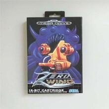 אפס כנף EUR כיסוי עם תיבת 16 קצת MD משחק כרטיס עבור Sega Megadrive בראשית וידאו קונסולת משחקים