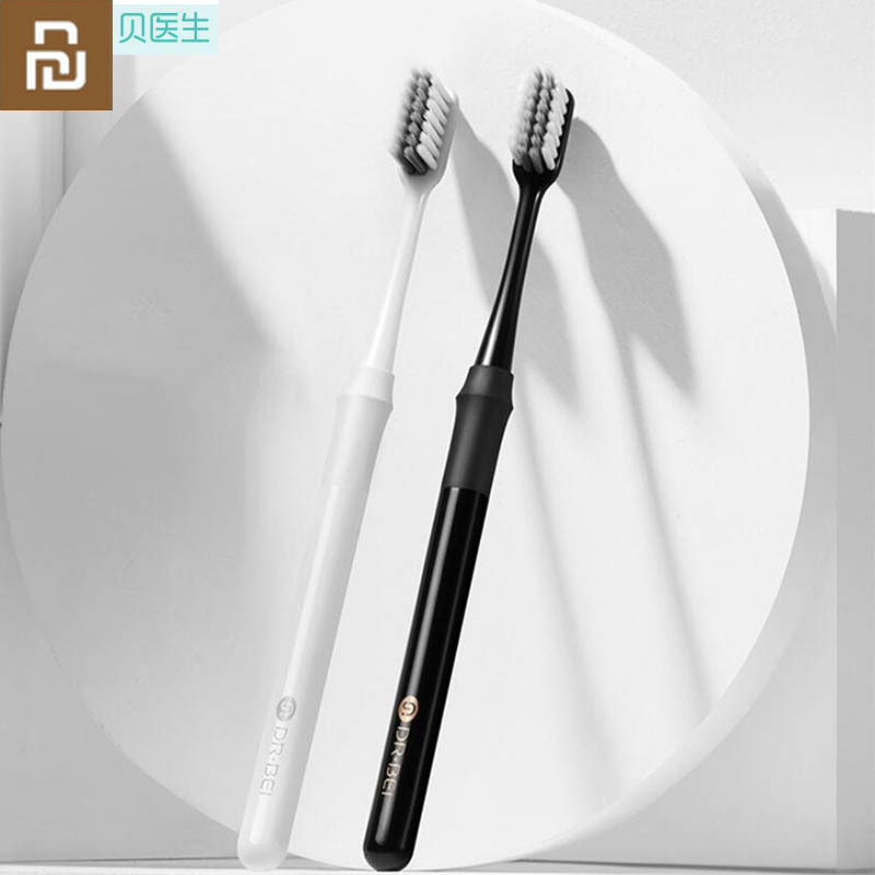 2Colors Youpin Doctor B Toothbrush Mi Bass Method Better Brush Couple Including Travel Box for Mijia Smart Home image