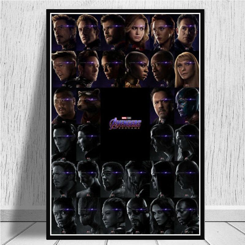 Плакатный принт Горячие Мстители Бесконечность эндмейд Супергерои коллаж подписанный маслом Живопись Художественная стена картинки для гостиной домашний декор - Цвет: Красный
