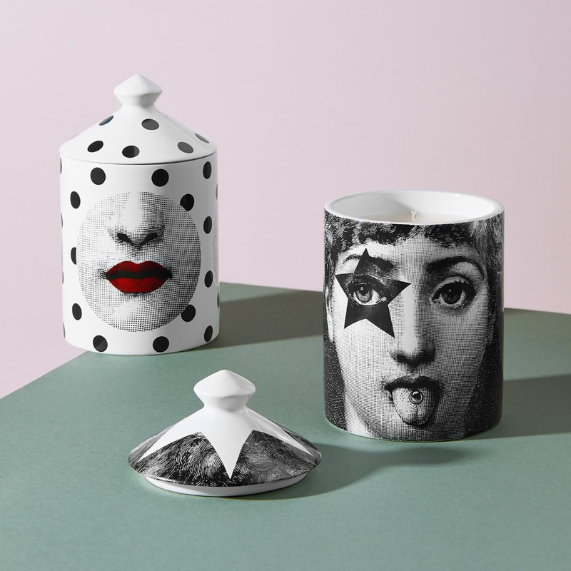 New Ceramic Candle Holders Handmade Incense Candles Jar Girl Face Red Lip Cup Living Room Study Ornaments Home Decor Crafts