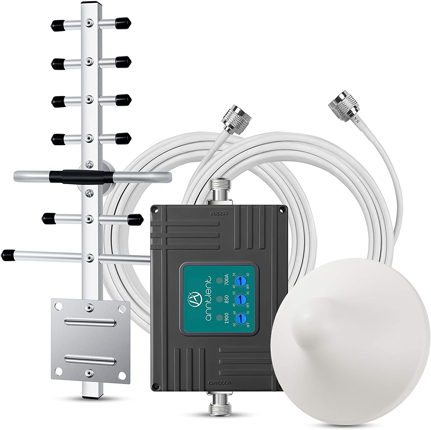 Band 5/2/12/17 Cell Phone Booster Boosts Voice 4G LTE Data For Home Office -850/1900/700MHz Cellular Signal Booster Repeater Kit