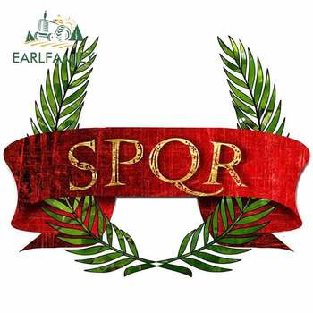 EARLFAMILY 13cm x 10.5cm for STICKER AUTO MOTO SPQR Creative Car Sticker DIY Waterproof Car Accessories Custom Printing Decal image