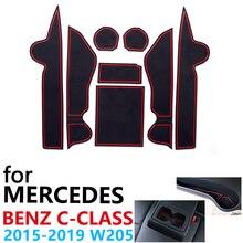 Противоскользящие резиновые чашки подушка двери паз коврик для Mercedes Benz c-класс W205~ C180 C200 C220 C250 C300 C350 аксессуары