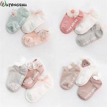 3Pairs/ lot Newborn Baby Girls Socks Summer Spring Mesh Socks Kids Bow Socks Princess Infant Baby Socks Baby Boy Foot Sockes 3pairs lot spring summer cute baby socks candy colors retro lace cotton short socks kids princess baby girl socks