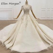 Элегантные кружевные бальные платья, свадебные платья для женщин, элегантные бусины, кристаллы, Vestidos De Noiva Свадебные платья Boho 2020