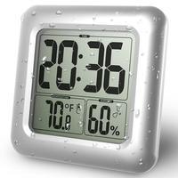 Waterproof Silver Plastic Wall Clock for Bathroom Modern Style Hanging Clock Reloj De Pared Horloge Living Room Decorations