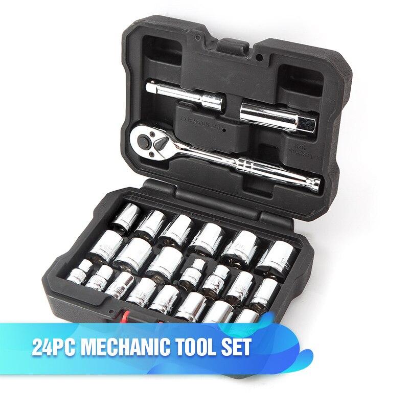 WORKPRO 123 шт. набор инструментов ручной для ремонта автомобиля, гаечный ключ Разъем набор профессиональных Инструменты для ремонта автомобилей Наборы - Цвет: W003000AE