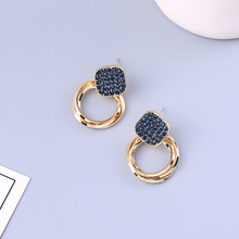 2019 New Tide Girl Heart Ins Ear Studs Matcha Color Earrings Port Style