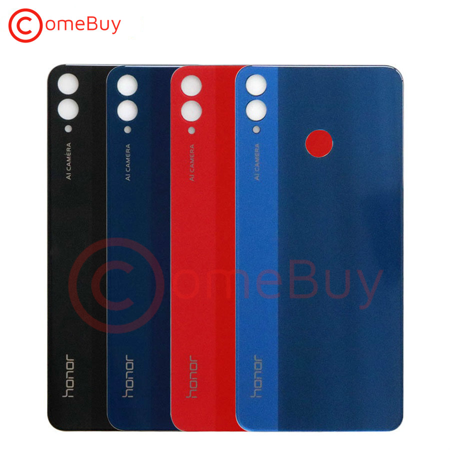 For Huawei Honor 8X Battery Cover Back Glass Rear Door Housing Case Shell Panel For Honor 8X Back Battery Cover With Camera Lens