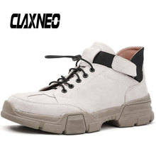 Buy CLAXNEO Man Boots Fashion Design Male Ankle Boot Genuine Leather Autumn Mens Leather Shoe Casual Walking Footwear directly from merchant!