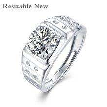 Мужское кольцо moissanite классическое с изменяемым размером