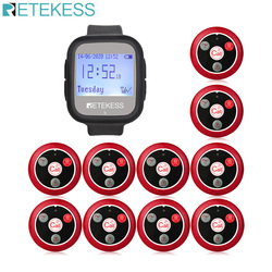 Retekess TD106 Watch Receiver+10pcs T117 Call Button Wireless Waiter Calling System Restaurant Pager For Cafe Shop Office Clinic