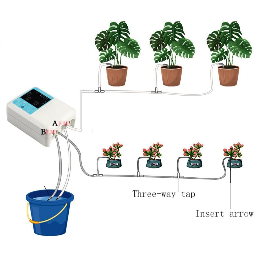 Anlage Tropf Bewässerung Wasserpumpe Timer System Reise Intelligente Garten Automatische Bewässerung Gerät Solar Energie Lade Topf