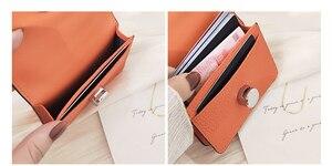 Image 5 - 9 cores de couro genuíno carteiras bolsas moda pequena bolsa de dinheiro luxo mini bolsa de moedas ferrolho design bolsa