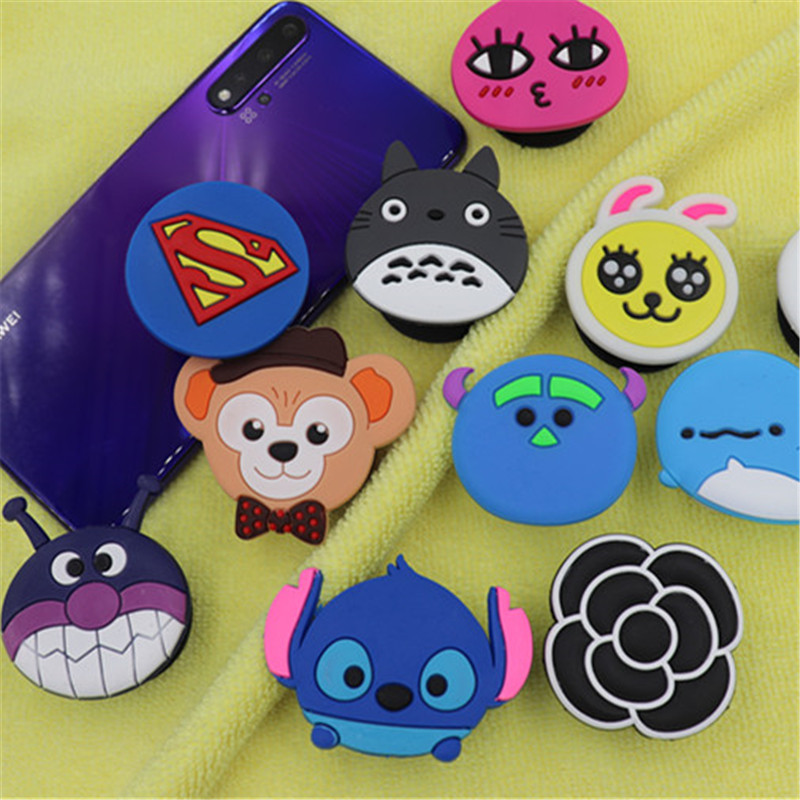 Cute 3D Animal Airbag Mobile Phone Extension Grip Finger Holder Rabbit Monkey Mobile Phone Holder Universal Mobile Phone Holder