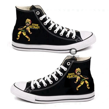 Anime game JoJo's Bizarre Adventure Cosplay fashion casual High help canvas shoes Cos personality hip hop student shoes