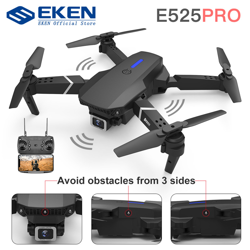 E525 PRO 4K Mini Drone Profissional Obstacle Avoidance Dual Camera Fixed Height RC Quadcopter Dron Helicopter FPV 1
