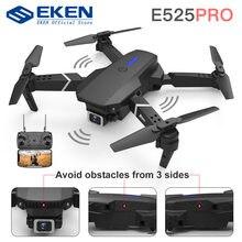 E525 PRO zdalnie sterowany Quadcopter Profissional unikanie przeszkód Drone podwójny aparat 1080P 4K stała wysokość Mini Dron zabawka-helikopter