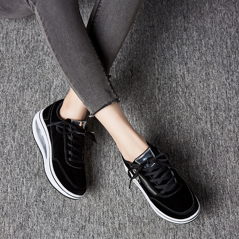 New Winter Women Outdoor Fitness Shoes Lace Up Wedge Sneakers Body Shaping Sport Slimming Shoes Ladies