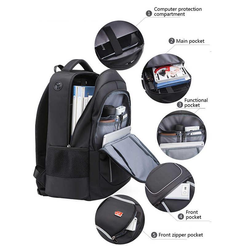 2019 Swiss Baru Tahan Air Tas Ransel 17 Inch Laptop Siswa Sekolah Tas Fashion USB Pengisian Perjalanan Ransel Wanita Mochila