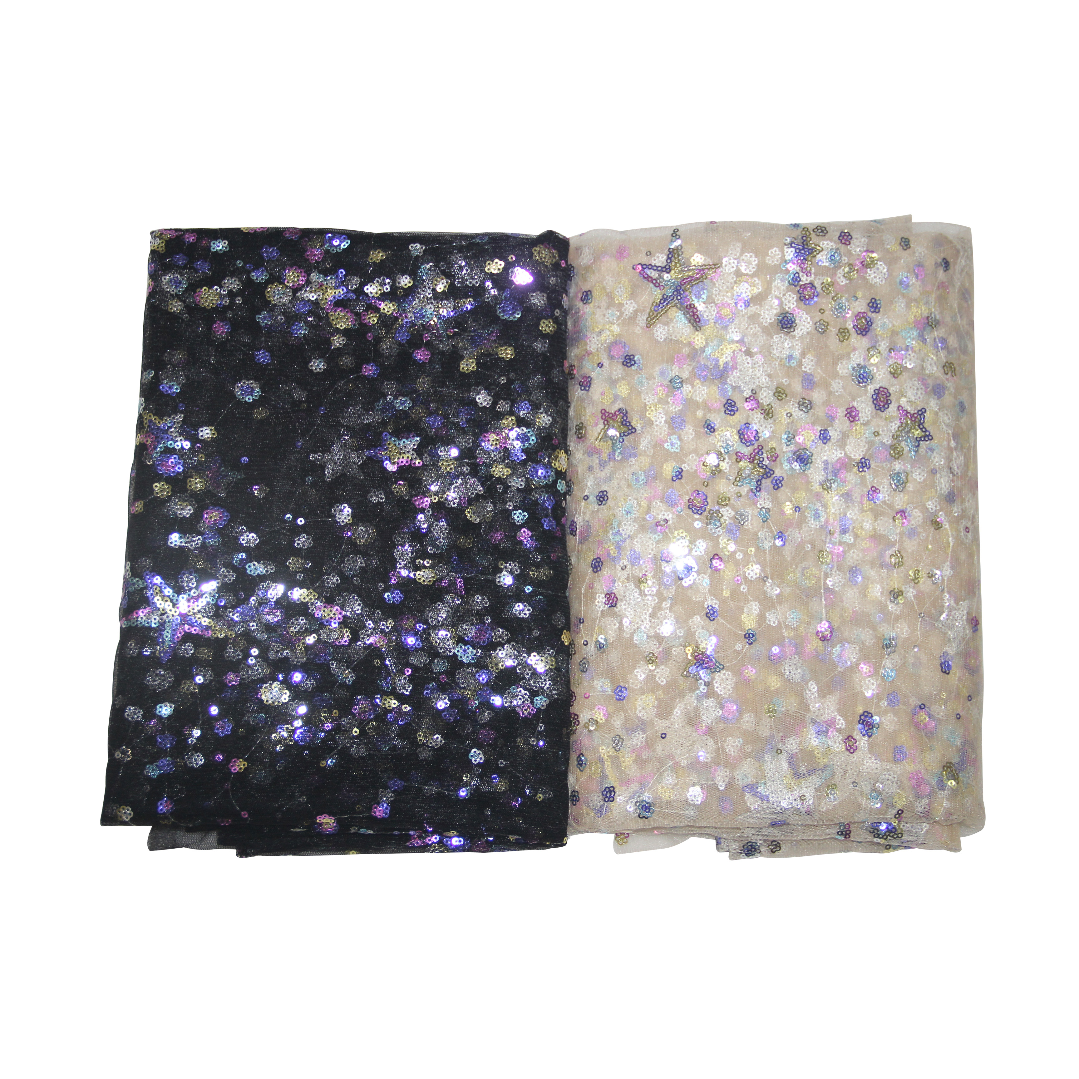 3meters Colorful Sequins Embroidered Soft Mesh Tulle Fabric Black And Gold Color Accessory For DIY Wedding Tutu Dress