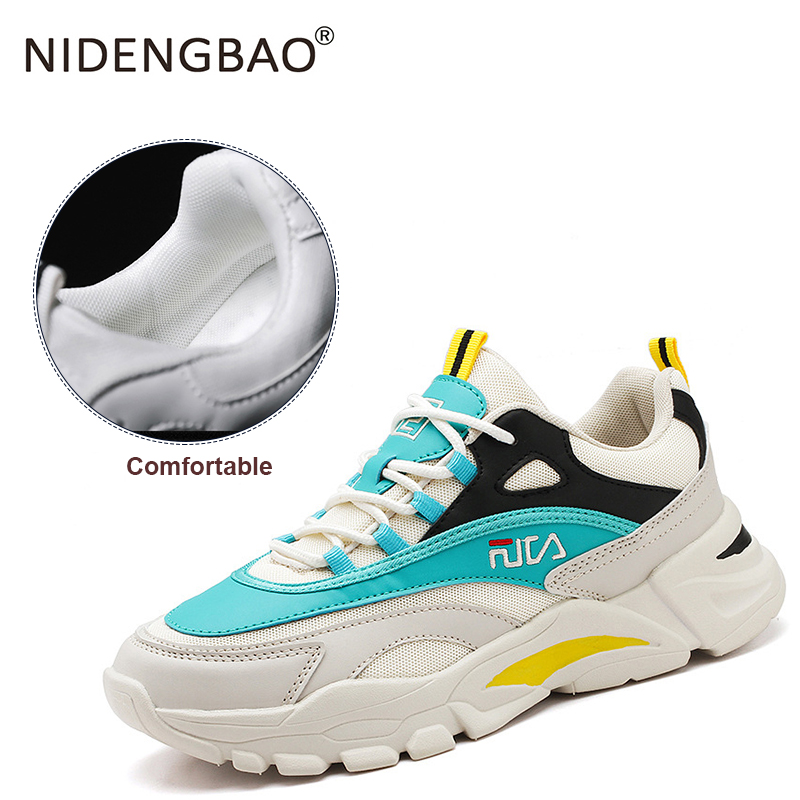 New Mesh Men Running Shoes Lac-up Men Sport Sneakers Fashion  Breathable Walking Sneakers Boys Trainers Zapatillas Hombre