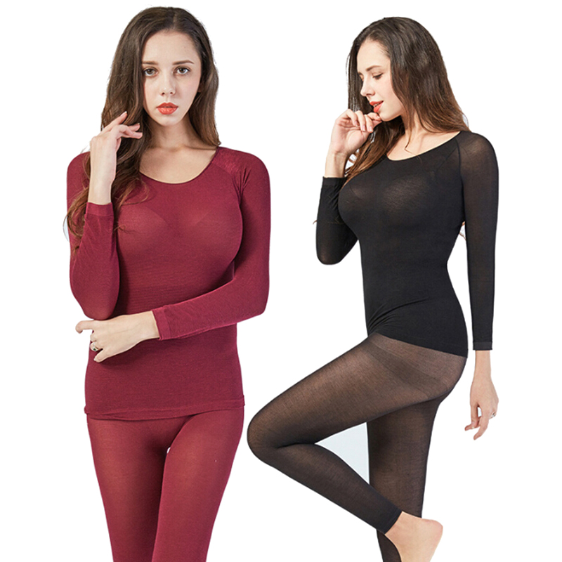 Women Thermal Underwear Sexy Warm Long Johns Seamless Winter Thermal Underwear Set Warm Thermos Clothing