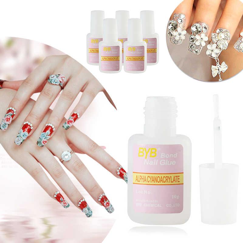 Szybkoschnący klej do paznokci z pędzelkiem sztuczne tipsy podkład akrylowy Nail Prep artystyczna dekoracja żelowy lakier do paznokci Semi Permanent UV TSLM1