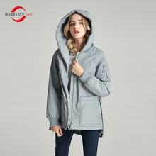 Padded Jacket Spring Women Coat Hood Thin Autumn Plus-Size Woman NEW MODERN SAGA Zipper