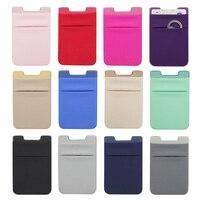 Schlank Adhesive Aufkleber Karte Halter Tasche Für Handy Universal Flexible Tuch Zurück Kleber Stick Große Kapazität Tasche