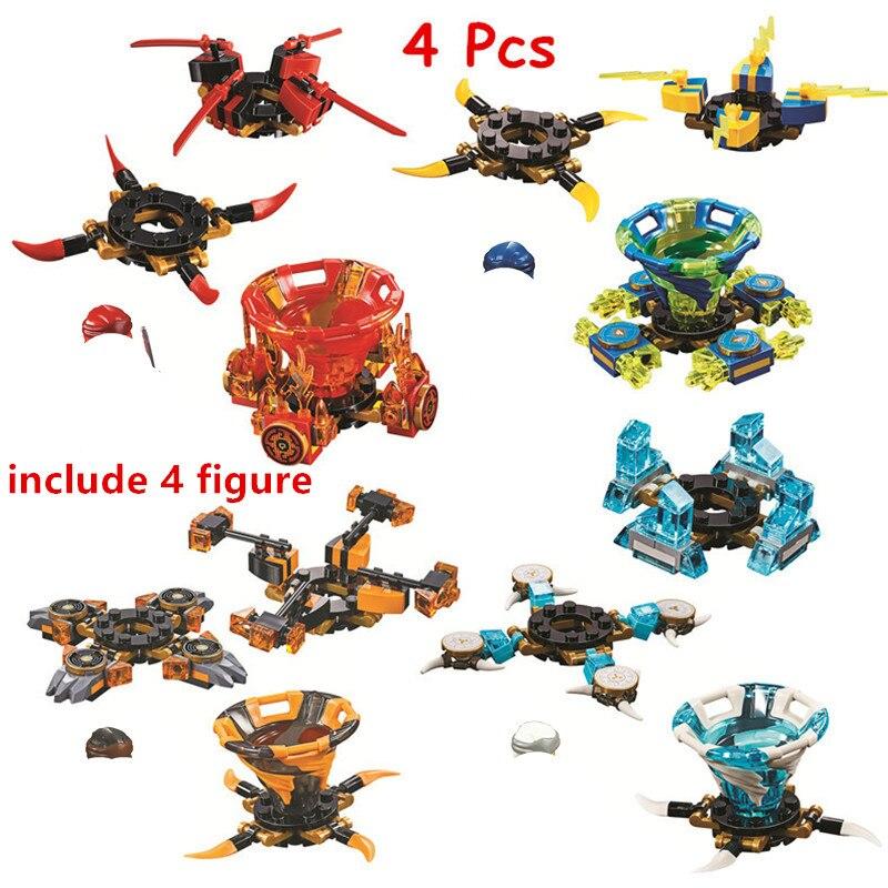 4 pcs lote ninjagoed kit bricks spinjitzu building blocks cole jay kai zane filme classico modelo