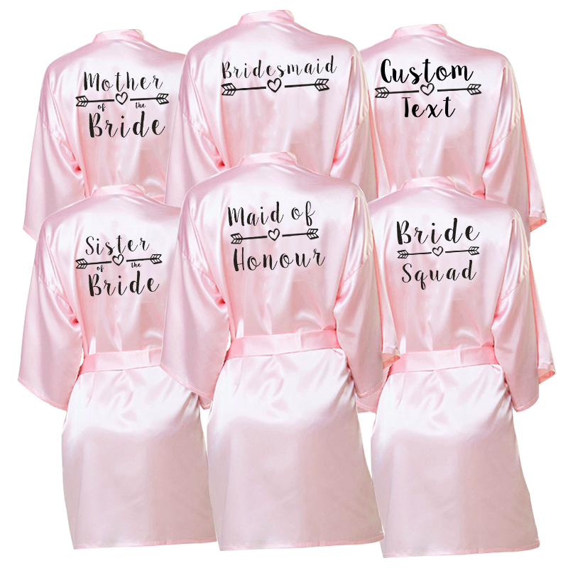 Bachelor Party Personalized Favors Gift Bride Team Robe Female Custom Name Bridesmaid Bride Tribe Bridal  Shower Cover-ups Robes