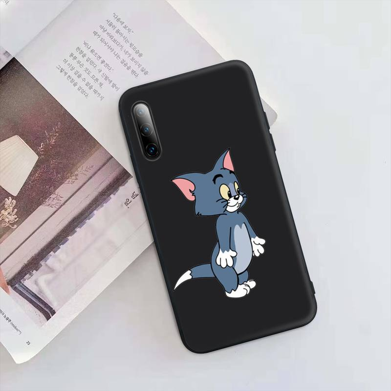Super Cute Cat Mouse Black Silicone Mobile Phone Case Cover For Samsung Galaxy S9 S10 S20 S21 S30 Plus Ultra S10e S7 S8