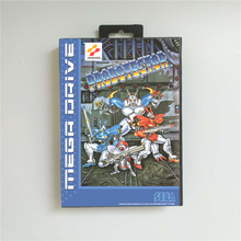 Probotector Eur Cover Met Doos 16 Bit Md Game Card Voor Sega Megadrive Genesis Video Game Console