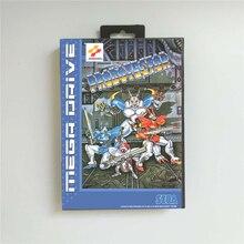 Probotector eur capa com caixa de varejo 16 bit cartão de jogo md para sega megadrive genesis console de jogos de vídeo