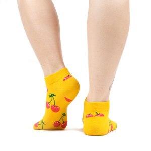 Image 3 - SANZETTI 12 Pairs/Lot Summer Women Casual Novelty Colorful Combed Cotton Ankle Socks Harajuku Happy Short Socks Plaid Tend Socks