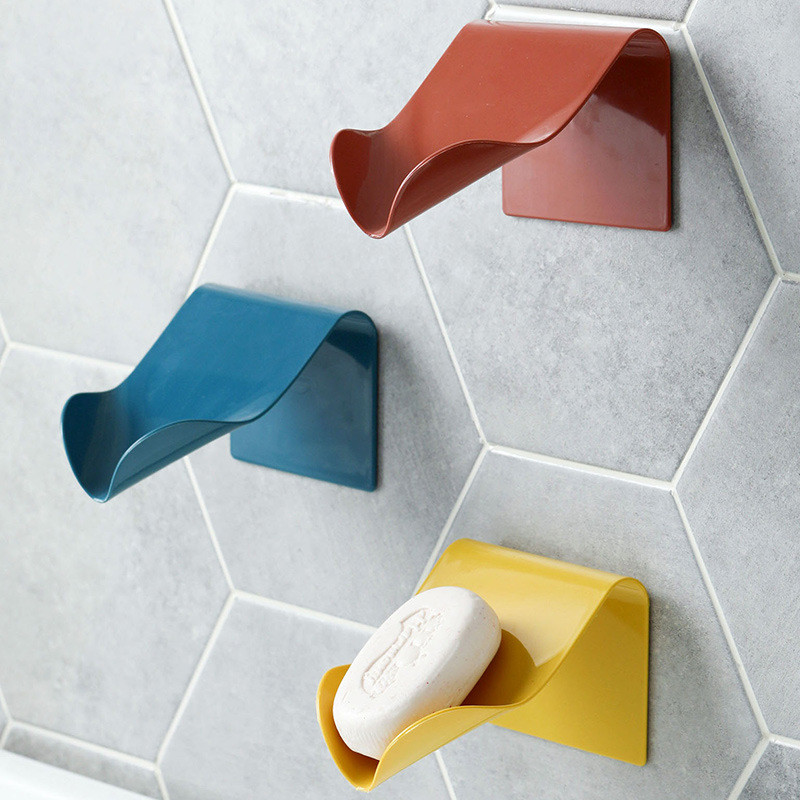 Soap Holder Bathroom Shower Soap Storage Box Dish Plate Tray Holder Bathroom Free Punching Drain Plastic Box Tray Wall Shelf
