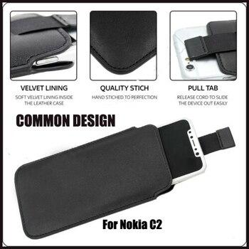 Перейти на Алиэкспресс и купить Чехол-Кошелек из искусственной кожи Casteel, кожаный чехол для Nokia C2 5,3
