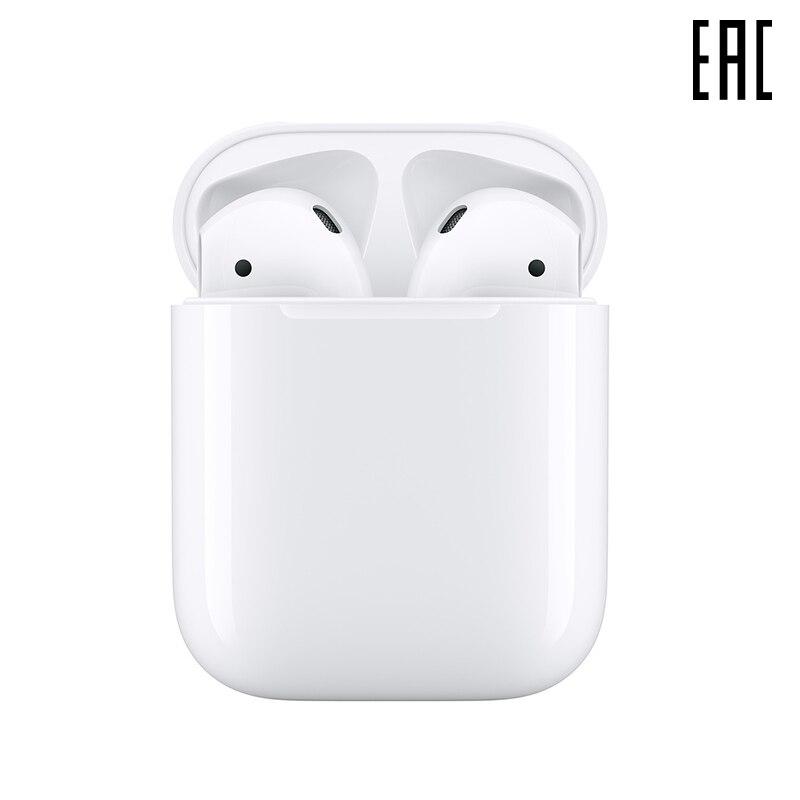 Fones de ouvido apple airpods 2 sem caso de carregamento sem fio [garantia oficial]