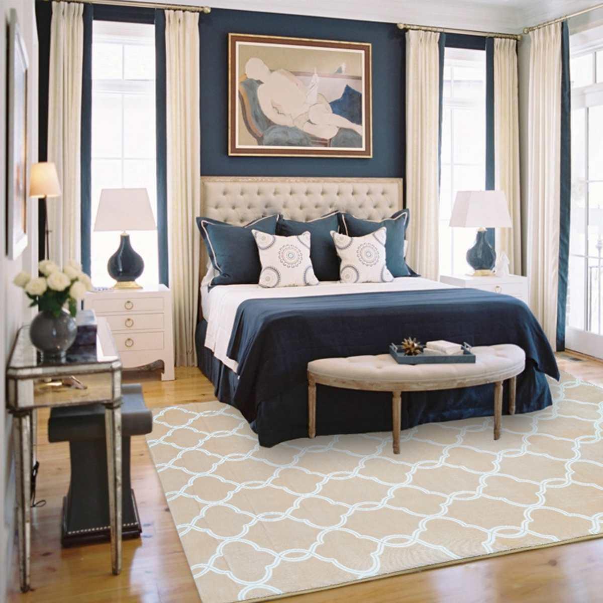 Antidérapant doux salon chambre tapis lanterne motif épais Fluff tapis de sol 60X180cm chambre salon enfants chambre tapis