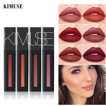 KIMUSE Liquid Lipstick Power Matte Lip Gloss Lip Glaze Lip Tint Makeup Waterproof Long-lasting Lip Makeup Cosmetics Cosméticos недорого