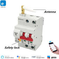 eWeLink 2P Remote control Wifi Circuit Breaker /Smart Switch/ Intelligent Automatic Recloser overload short circuit protection
