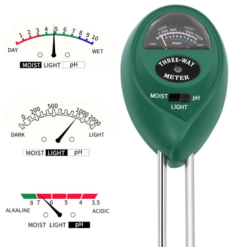 Kebidumei 3 в 1 Цифровой измеритель PH влажности почвы и солнечного света для растений измерение кислотности цветов|Измерители pH|   | АлиЭкспресс