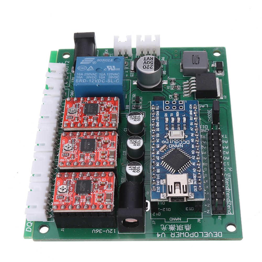 3 แกนควบคุม 3018 CNC Router GRBL USB Stepper Motor DRIVER DIY เลเซอร์แกะสลักเครื่องมิลลิ่ง CONTROLLER