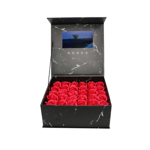 Image 1 - 양장본 꽃 비디오 상자 7 인치 2 기가 바이트 메모리 유니버설 인사말 카드 HD 시니어 선물 플레이어에 대한 소책자 매쉬를보고