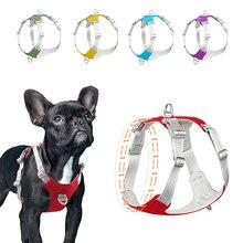 Arnés para perros de entrenamiento reflectante, Chaleco de correa de pecho, arnés protector ajustable para exteriores para perros pequeños, medianos y grandes