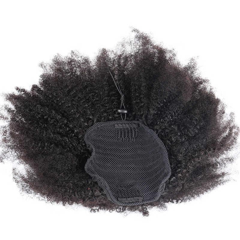 4B 4C kucyki klip w doczepy z ludzkich włosów dla kobiet Remy ludzki włos naturalny klip w kucyk Rosa królowa moda