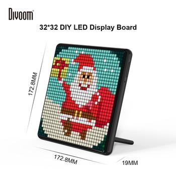 Divoom Pixoo Max Digitale Foto Rahmen mit 32*32 Pixel Kunst Programmierbare Auto LED Display board, weihnachten geschenk für kinder, licht decor