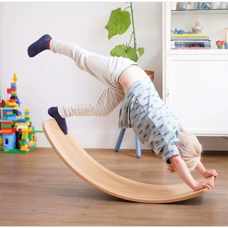 Children Wood Balance Board Kids Game Wobble Board Balance Workout Twist Board Fitness Training Plate Exercise Equipment Seesaw